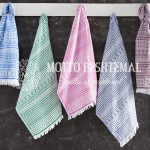 Antique Greek Hammam Towel In Various Colors