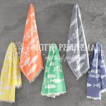 Fishbone Turkish Beach Towel